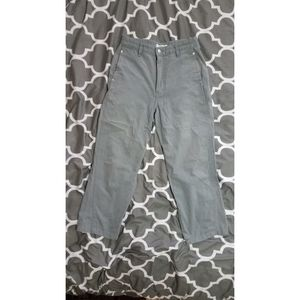 High waisted cropped cotton pants